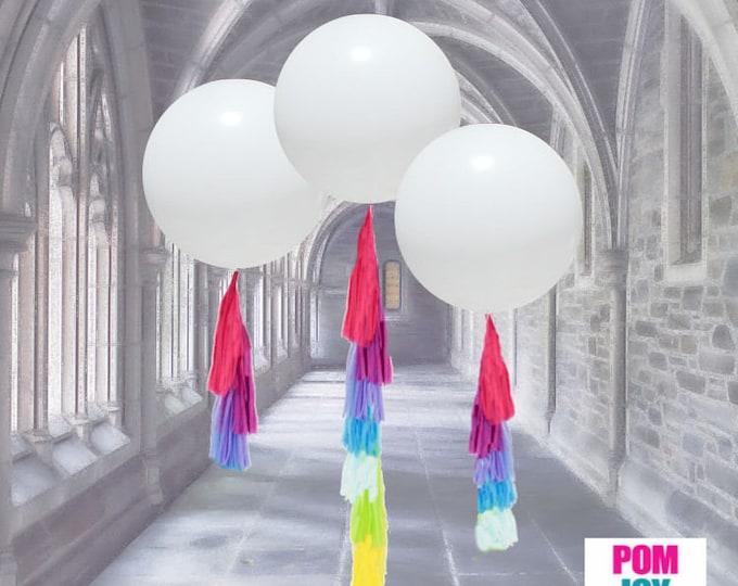 Balloon Tassels, Tassels, Balloon Tassels Garland, Balloon Tassels Blue and Pink, Tassels By Themselves - No Balloons