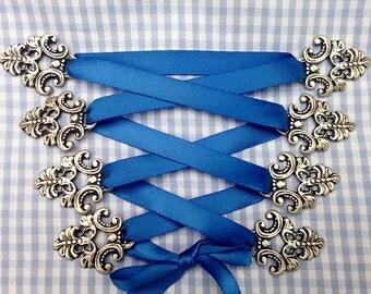 Hooks for Dirndl, bodice hooks,dirndl dress, metal, antique silver colored, Festtracht, Octoberfest!!