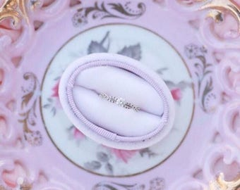 Orchid Velvet Ring Box for Wedding Ceremonies, Proposals and Heirloom Storage