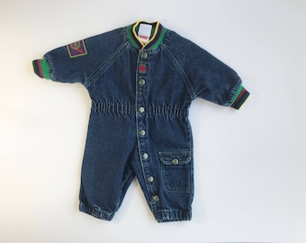 90's Denim Levis Jumper / Little Levis 9 months Romper