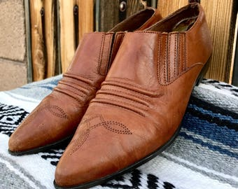 Vintage Western Ankle Boots