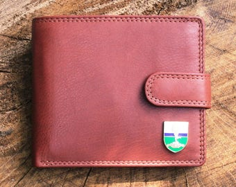 Royal Signals Leather Wallet Brown or Black Military Gift ME30