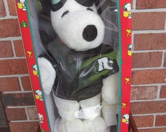 SNOOPY   United Feature  Santas Best Holiday Animation  -  Snoopy  as Red Baron - Figure  - 19'' tall -