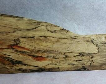 Spalted American elm wood blank