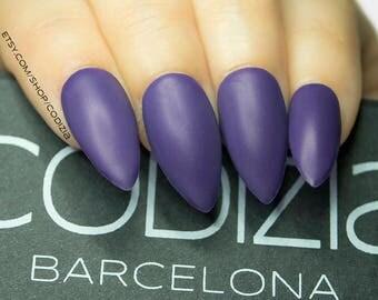 Stiletto Nails-Gel Nails-Reusable-Medium Length-14 Colors to Choose-Press On Nails-Matte and Glossy-Fake Nails-False Nails-Glue On Nails