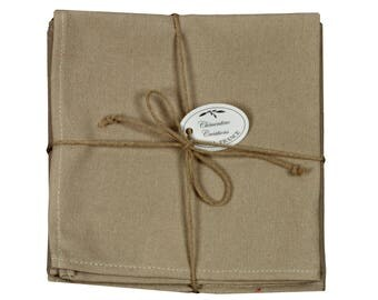 "Set of 6 40x40cm ""Pastel Taupe"" cloth napkins"