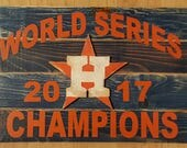 Houston Astros World Series Champions wood Flag, NFL, NBA, MLB, College, High School, Any team Shipping included in the usa
