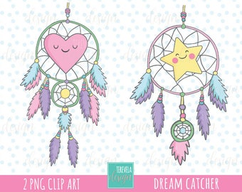 80% SALE Dream catcher clipart, boho clipart. tribal cliparpar, commercial use, kawaii clipart,  instant download, cute graphics