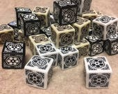 Six Shooters Western Themed d6 (various colors)