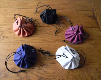 Handmade 5 leather purses choose colors
