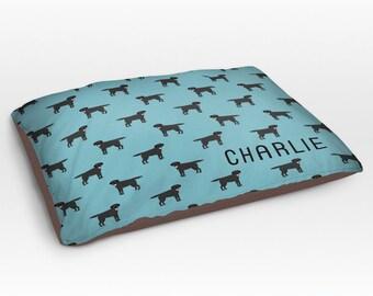Personalized Black Labrador Retriever Dog Bed, Dog Beds, Large Pet Bed, Cute Dog Duvet, Custom Name Dog Bed Pillow, Dog Gifts for dog