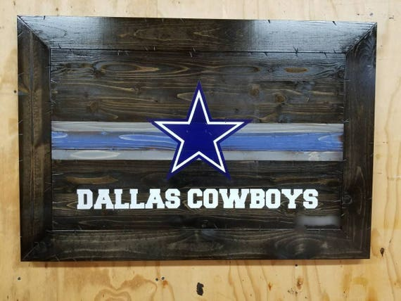 Framed Wooden Rustic-style Dallas Cowboys Sign