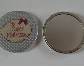 Miroir de poche 56mm Ma Super Maîtresse.