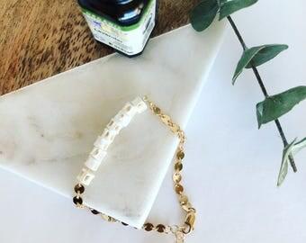 Essential Oil Defuser Bracelet, Gold Bracelet, Boho Bracelet, Layering Bracelet, Valentines Day Gift
