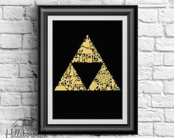 Legend Within: Legend of Zelda, Digital Print, Instant Download, Breath of the Wild, Ocarina of Time, Link, Poster, Zelda, Switch, Triforce