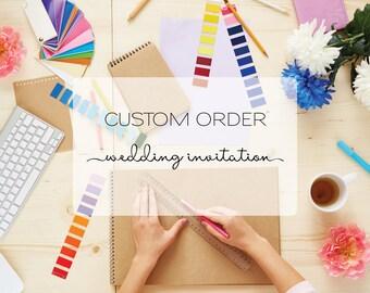 Custom Design - Wedding Invitations - Invitation Design - Wedding Stationary - Unique Invitation - Wedding Suite - Custom Invitations