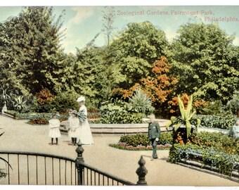 Zoological Garden Fairmont Park Phila. 1906 unused postcard