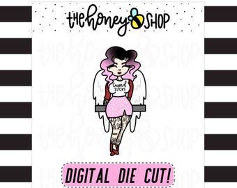 PRINTABLE DIE CUTS | Light Skin Cupid Die Cut