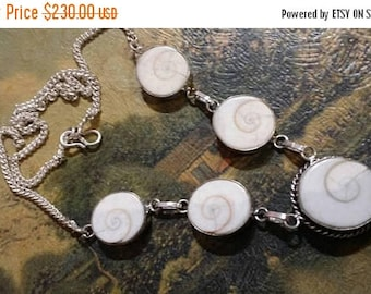 Holiday SALE 85 % OFF Shiva Eye Necklace  .925 Sterling  Silver  Gemstone