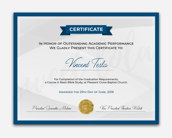 instant download certificate diploma template files included editable photoshop and ms word file