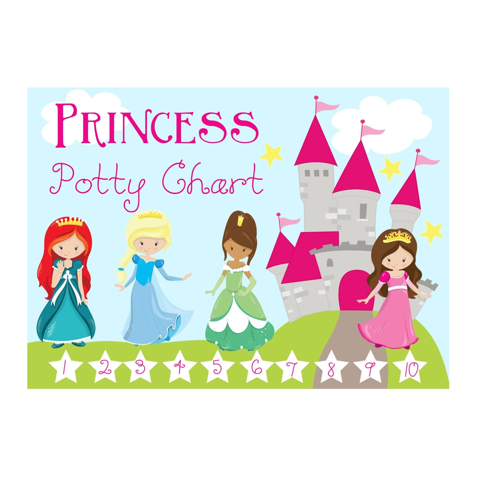 Free Printable Princess Sticker Chart