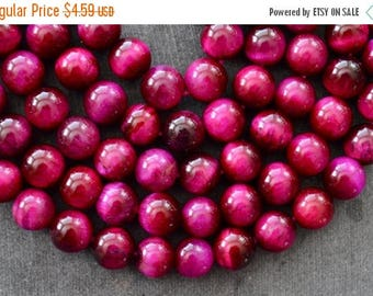 SUPER SALE 8mm, Pink Tiger Eye Stone Beads, Gemstone Beads, Round Tiger Eye Beads (10) 8mm Stone Beads