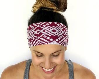Yoga Headband - Workout Headband - Fitness Headband - Running Headband - The West Is Best Print - Boho Wide Headbands