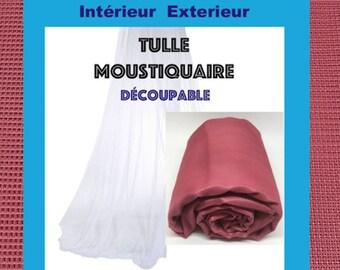 Tulle NET FRAMBOISETulle Marquisette mesh square Ideal NET 150cm width is 10M 2
