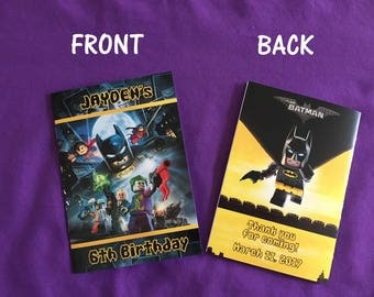 12 Personalized Lego Batman Coloring Books, Party Favors