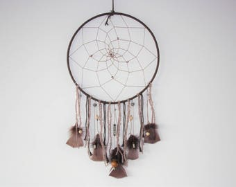 """Dream catcher tribe """"Spirit of the Earth"""" Brown & taupe"""