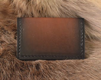 Slim leather wallet, front pocket wallet, slim mens wallet, real leather wallet, mens leather wallet, minimal wallet