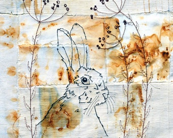 The Watchful Hare Card