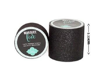 Masking tape / Washi tape - shiny black fashion