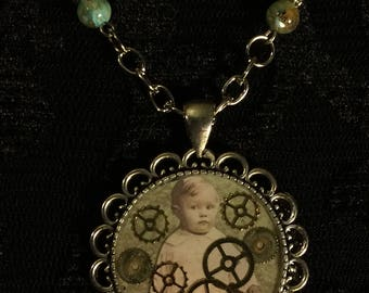 Steampunk inspired necklace