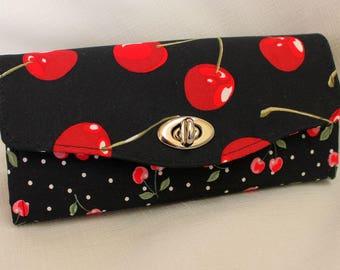 Cherry Clutch Wallet