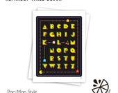 Pac-Man Alphabet Print Ro...