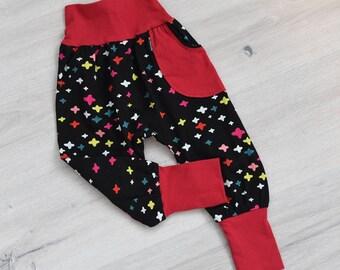 Toddler Harem Pants, Grow with Me Pants, Harem Kids Pants, Toddler Joggers, Toddler Pants, Baby Harem Pants, Cloth Diaper Pants