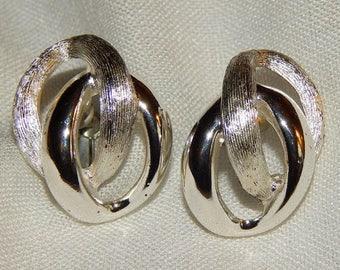 ON SALE: Vintage Napier Silver Screwback Earrings - 1960s
