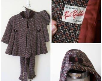 50s Girls Snowsuit, Three Piece Set, Kute Kiddies, Mid Century, 1950s, Vintage Snowsuit, Girls Size 4T, Size 5T, Kids Vintage Clothing