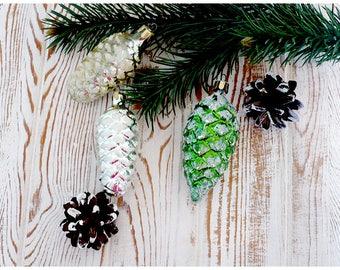 Set Russian Vintage Christmas Ornaments / Комплект российских винтажных ёлочных игрушек