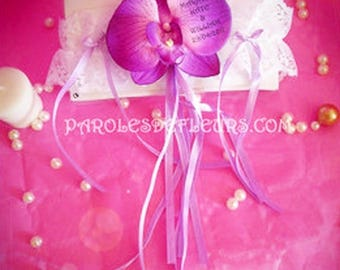 Orchid purple cabaret garter to be personalized