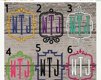 Monogram Decals, Monogram Vinyl Decal, Yeti Decal for Women, Vinyl Monogram Decal, Monogram Sticker, Monogram Decal, Car Decal