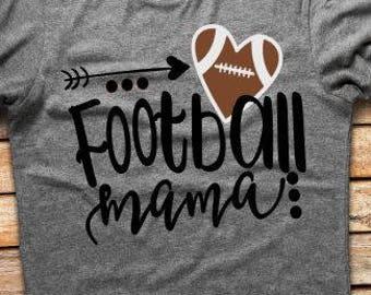 Football Mama Tshirt // Football Mom Shirt // Football Mom Tshirt // Football Tshirt // Fall Tshirt // Plus Size Football Mom Tshirt