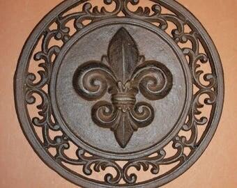 12 Off 1 Fleur De Lis Home Decor Vintage Look Saints Louisiana Wall Plaque New Orleans