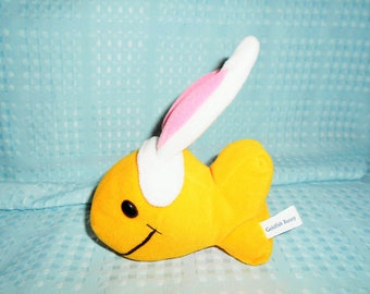 "Beanbag Plush Goldfish With Bunny Ears Just in Time For Easter/Pepperidge Farm Goldfish Crackers Mascot/6"" Long and So So Cute! Great Gift!"
