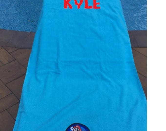 Super Mario Bath Beach Towel Personalized