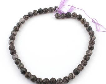 Valentines Day 1 Strand Black Rutile Faceted Rondelles- Tourmilated Quartz Roundel Beads 8mm 14 Inches SB893