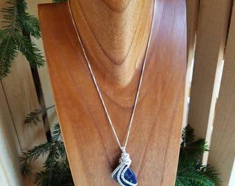 Dark Blue Jasper pendant necklace