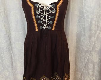 Brown Dirndl dress