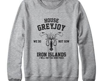 House Greyjoy Shirt We Do Not Sow Shirt Iron Islands Shirt Game of Thrones Shirt Graphic Tee Funny Sweatshirt Oversized Women Sweatshirt Men